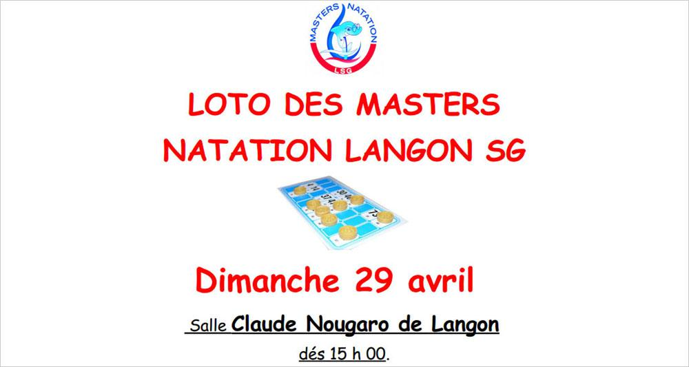 Photo Loto des Masters Natation Langon SG