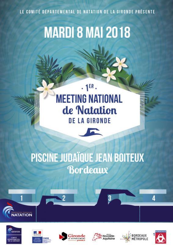 Illustration 1er meeting National de Natation de la Gironde