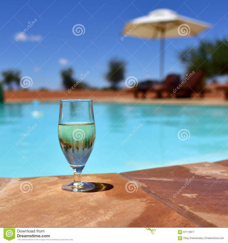 Vinovalie dégustation au bord de la piscine