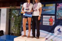 Anne-Christine et Armelle avec leurs 3 médailles : or, argent et