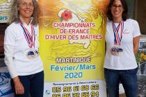 Nos 2 médaillées au stand de la Martinique